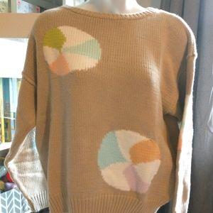 Vintage Liz Sport Beach ball sweater sz S